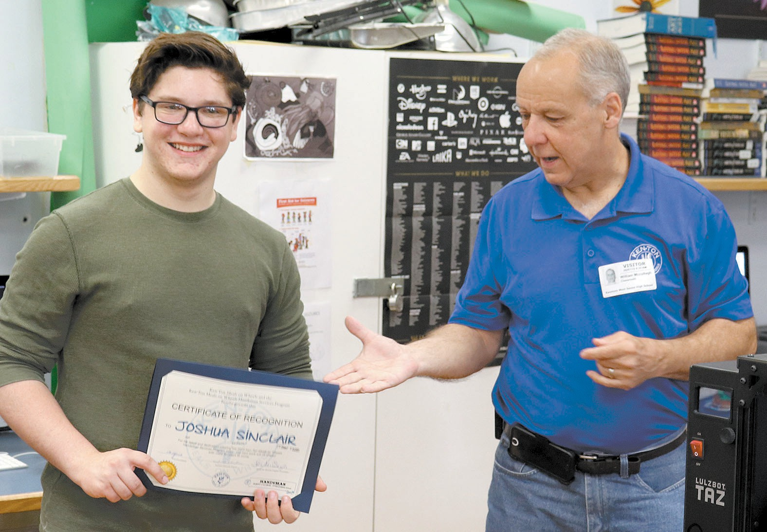 Kenmore West students create promotional video, meal